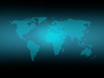 Mapa de mundo pontilhado com fulgor fotos de stock royalty free