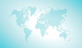 Mapa de mundo pontilhado vetor ilustração royalty free