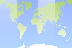Mapa de mundo Projeto liso Foto de Stock Royalty Free