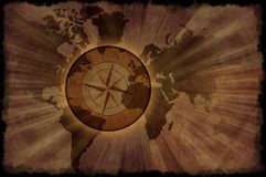 Mapa de mundo retro Foto de Stock Royalty Free