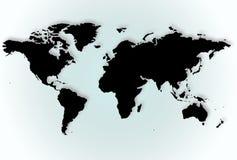 Mapa de mundo sobre o inclinação Fotos de Stock Royalty Free