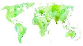 Mapa de mundo Terra Foto de Stock Royalty Free