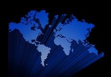Mapa de mundo tridimensional ilustração royalty free