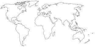 Mapa de mundo vazio Foto de Stock Royalty Free