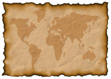 Mapa de mundo velho Fotos de Stock