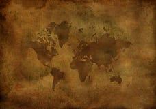 Mapa de mundo - velho Fotografia de Stock