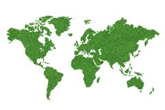 Mapa de mundo verde Foto de Stock