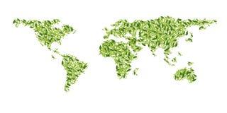 Mapa de mundo verde Fotos de Stock
