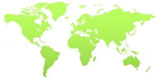 Mapa de mundo verde ilustração stock