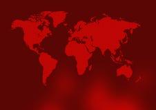 Mapa de mundo vermelho antigo ilustração royalty free