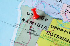 Mapa de Namíbia Fotografia de Stock Royalty Free