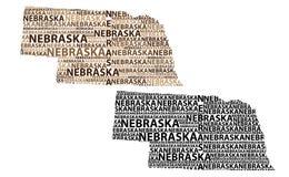 Mapa de Nebraska - ilustração do vetor Foto de Stock Royalty Free