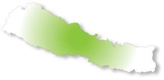 Mapa de Nepal Foto de Stock Royalty Free