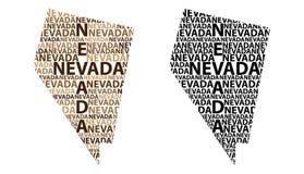 Mapa de Nevada - ilustração do vetor Fotos de Stock Royalty Free