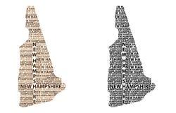 Mapa de New Hampshire - ilustração do vetor Imagem de Stock Royalty Free