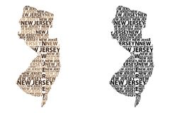 Mapa de New-jersey - ilustração do vetor Imagens de Stock Royalty Free