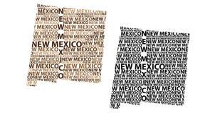 Mapa de New mexico - ilustração do vetor Fotos de Stock Royalty Free