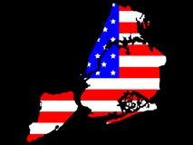 Mapa de New York City Imagens de Stock