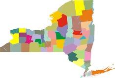 Mapa de New York City ilustração stock