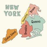 Mapa de New York City stock de ilustración