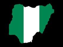 Mapa de Nigéria Fotografia de Stock Royalty Free