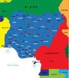 Mapa de Nigéria Ilustração Royalty Free