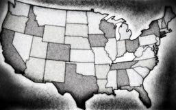 Mapa de Noir EUA Imagens de Stock Royalty Free