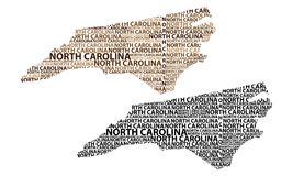 Mapa de North Carolina - ilustração do vetor ilustração do vetor