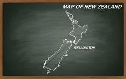 Mapa de Nova Zelândia Imagens de Stock Royalty Free