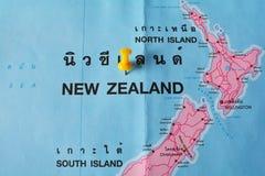 Mapa de Nova Zelândia Fotografia de Stock