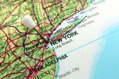 Mapa de Nueva York Fotografía de archivo libre de regalías