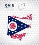 Mapa de Ohio con el mapa dibujado mano de la pluma del bosquejo dentro Ilustración del vector libre illustration