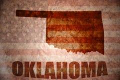 Mapa de Oklahoma del vintage Fotografía de archivo