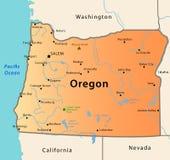 Mapa de Oregon Imagens de Stock