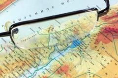 Mapa de Palestina Imagens de Stock
