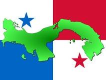 Mapa de Panamá Fotografia de Stock