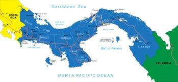 Mapa de Panamá Fotografía de archivo libre de regalías