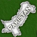 Mapa de Paquistão ilustração do vetor