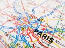 Mapa de Paris Imagem de Stock