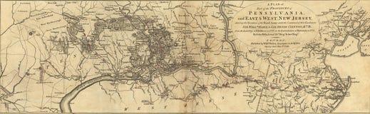 Mapa de Pennsylvania Fotos de archivo libres de regalías