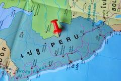 Mapa de Perú imagen de archivo