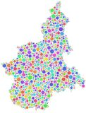 Mapa de Piedmont em Itay Fotos de Stock