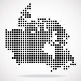 Mapa de pixel de Canadá Fotos de Stock Royalty Free
