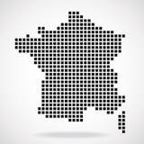 Mapa de pixel de França Fotografia de Stock
