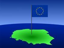 Mapa de Poland com bandeira Imagem de Stock Royalty Free