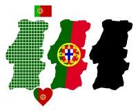Mapa de Portugal Imagem de Stock