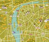 Mapa de Praga Imagen de archivo libre de regalías