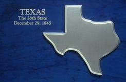 Mapa de prata de Texas Fotos de Stock