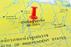 Mapa de Rússia imagens de stock royalty free