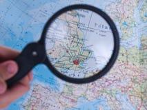 Mapa de Reino Unido Imagens de Stock